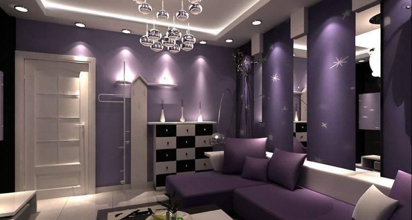 Purple Bedroom Dashing Beige Living Room Idea Eric