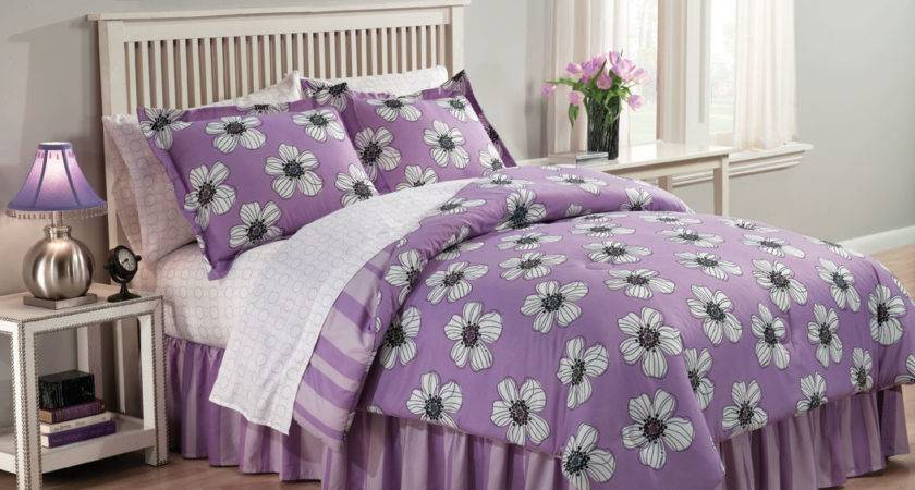 Purple Black Floral Bedding Imgkid