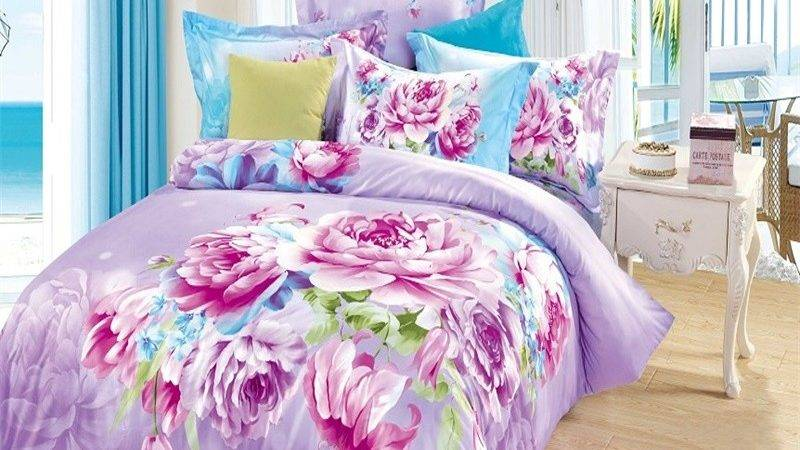Purple Blue Bedding Sets Green