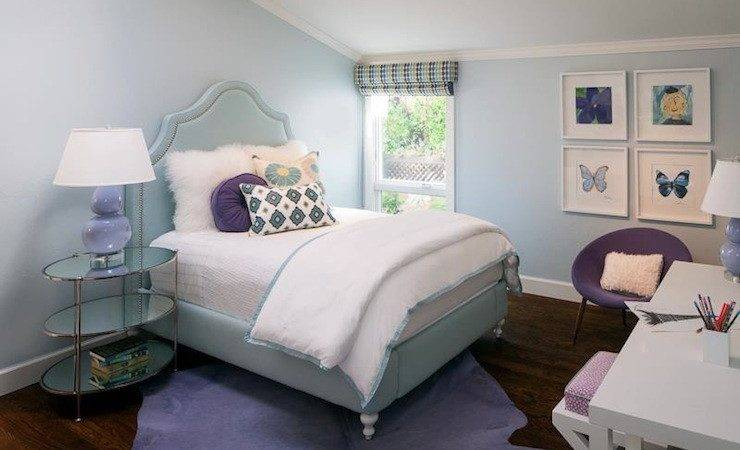 Purple Blue Girl Room Contemporary