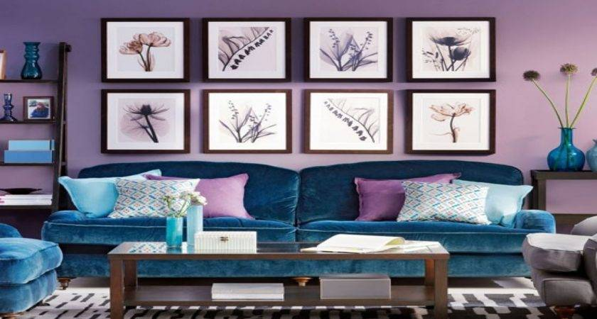 Purple Blue Living Room