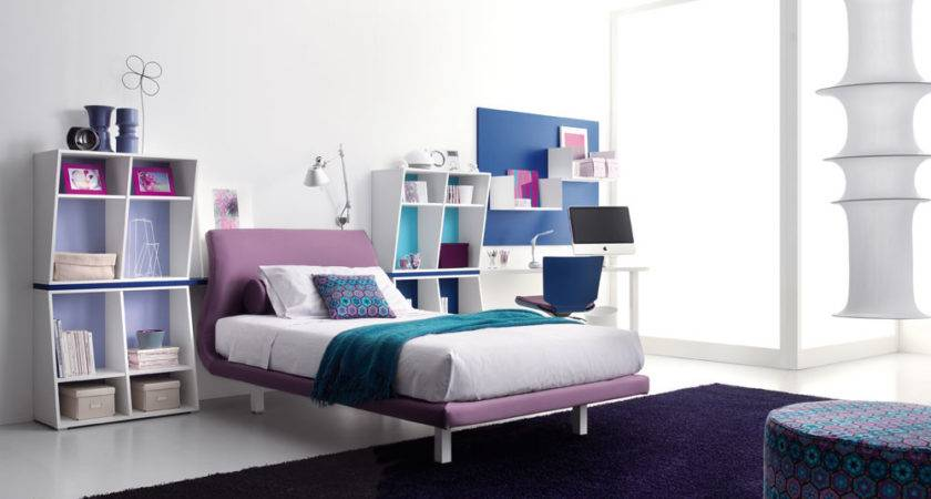 Purple Blue Teen Bedroom Stylehomes