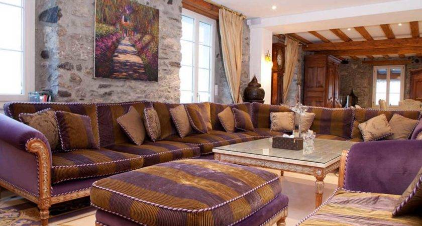 Purple Brown Living Room Modern House
