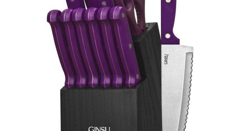 Purple Canister Set Kitchen Glass