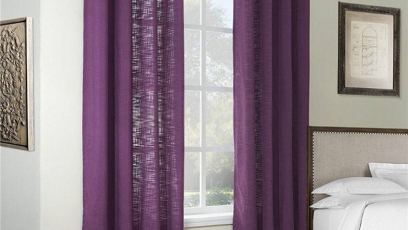 Purple Color Two Panels Discount Curtains