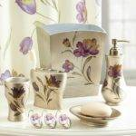 Purple Gold Bathroom Sets House Decor Ideas