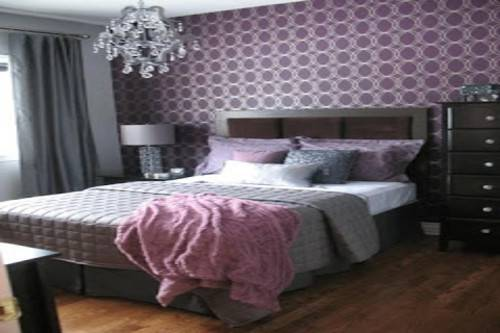 Purple Gray Bedroom Comforter Sets