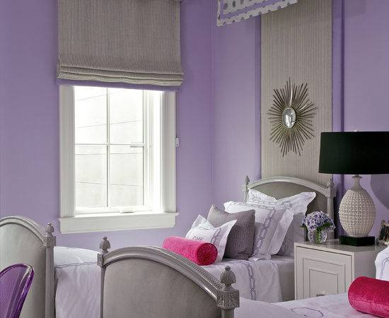 Purple Gray Girls Room Contemporary Girl