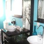 Purple Green Bathroom Decor Home Interior Design