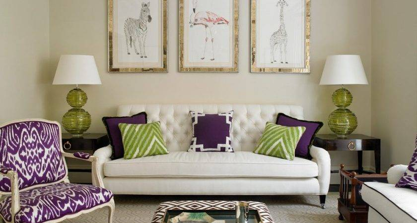 Purple Green Living Room Home Design