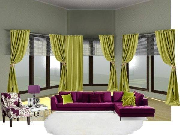 Purple Green Living Room Polyvore