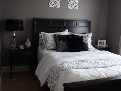 Purple Grey Guest Bedroom Designs Decorating