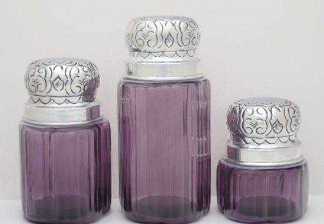 Purple Kitchen Canisters Ceramic Best
