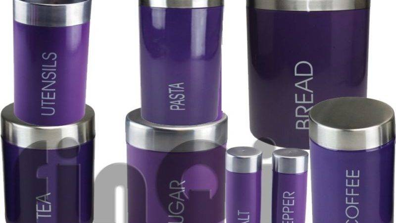 Purple Kitchen Canisters Ideas