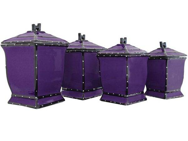 Purple Kitchen Canisters Imgkid