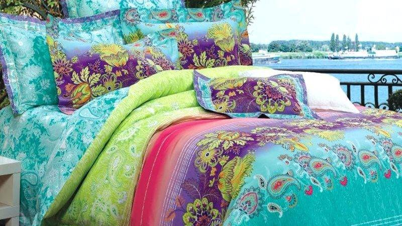 Purple Lime Green Bedding Yuppers