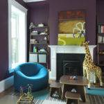 Purple Modern Living Room Decorating Ideas Interior