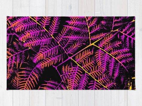 Purple Orange Yellow Bracken Rug Moonshineparadise