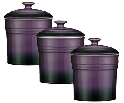 Purple Set Storage Canisters Tea Coffee Sugar Jars