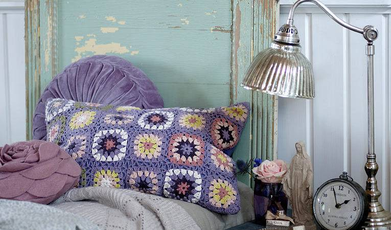 Purple Shabby Chic Bedroom Eclectic Living Home