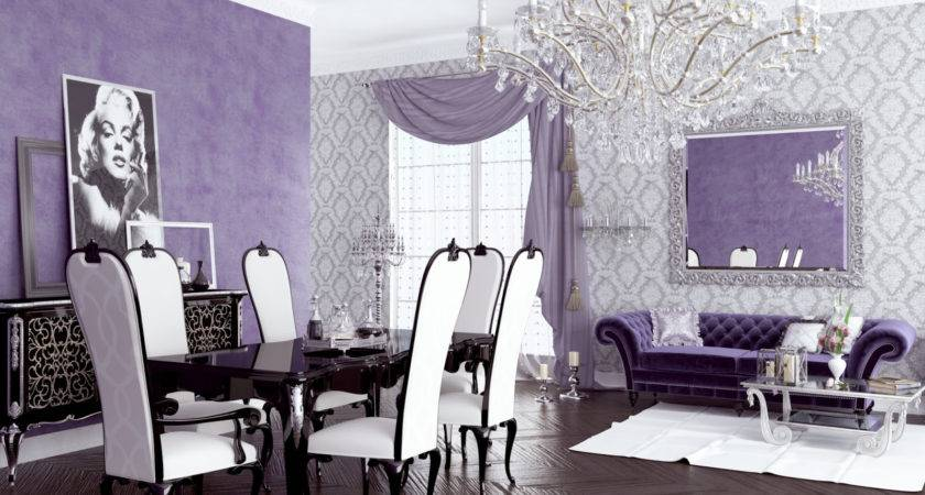 Purple Silver Living Room Ideas Home Combo