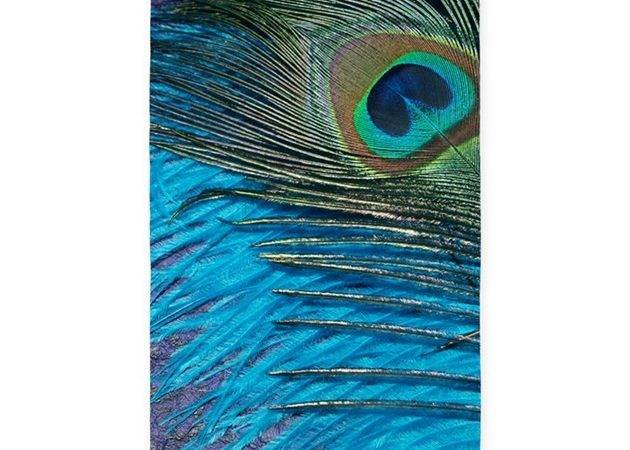 Purple Teal Peacock Area Rug Christyoliver