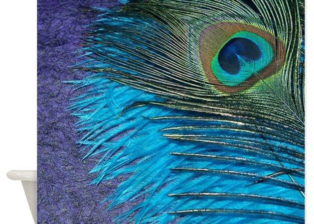 Purple Teal Peacock Shower Curtain Christyoliver