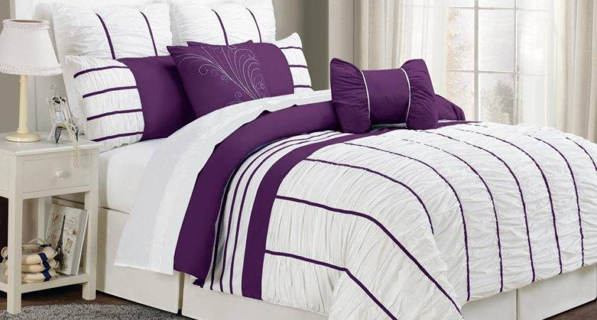 Purple White Comforter Sets Car Interior Design