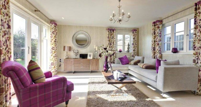 Purple White Living Room Design Ideas Photos