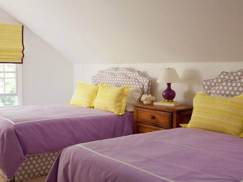 Purple Yellow Girls Bedroom Cottage Girl Room