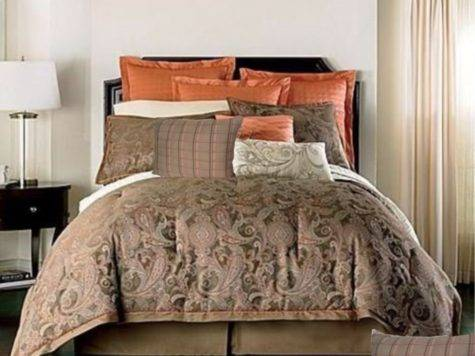 Queen Cindy Crawford Coral Fusion Comforter Set Brown