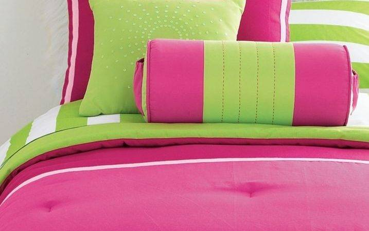 Queen Comforter Pink Lime Green Val Drapes Girl New Ebay