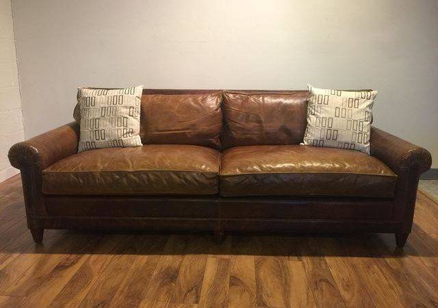 Ralph Lauren Leather Sofa Throw Pillows Chairish
