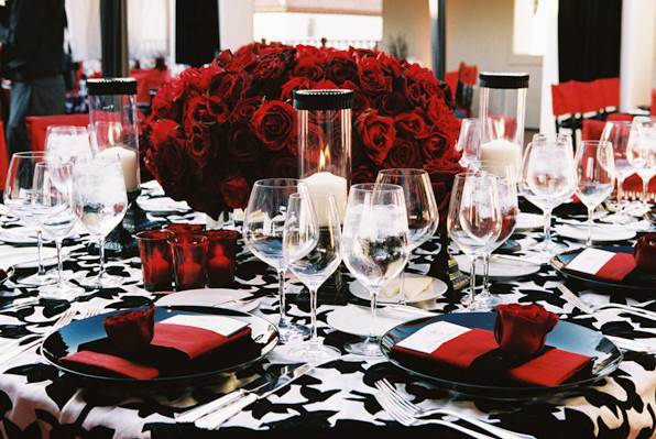 Rbh Designer Concepts Red Silver White Black Wedding
