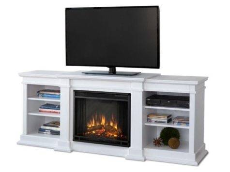 Real Flame Fresno Electric Fireplace Stand White