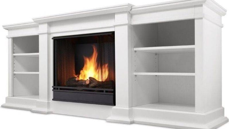 Real Flame Fresno Stand Gel Fireplace White