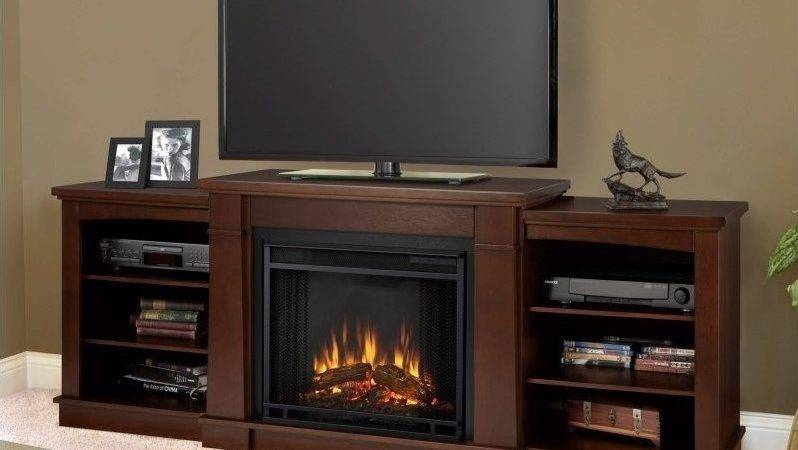 Real Flame Hawthorne Electric Fireplace Stand Dark