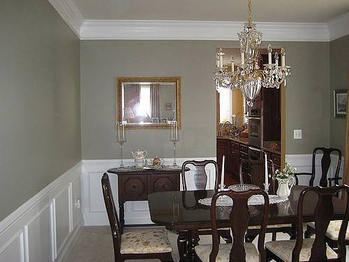Real Homes Gray Green Dining Room Ellen Kennon Ashen
