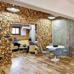 Reclaimed Wood Wall Sponge Design Interior