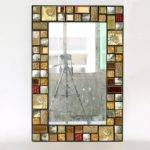 Rectangle Antique Decorative Mosaic Framed Wall Mirrors