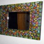 Rectangular Mosaic Border Mirror Wall Mirrors