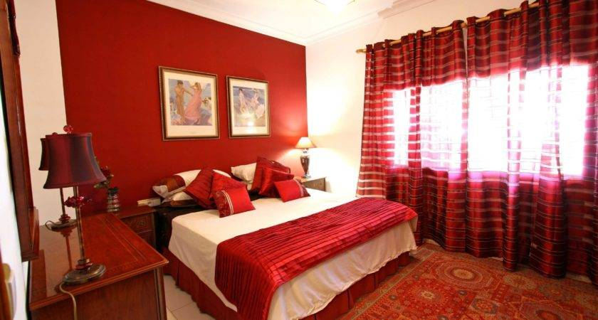 Red Bedroom Walls Decorating Ideas Wall Colors Stickers