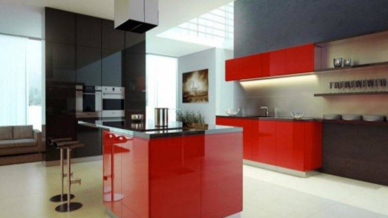 Red Black Kitchen Accessories Ideas