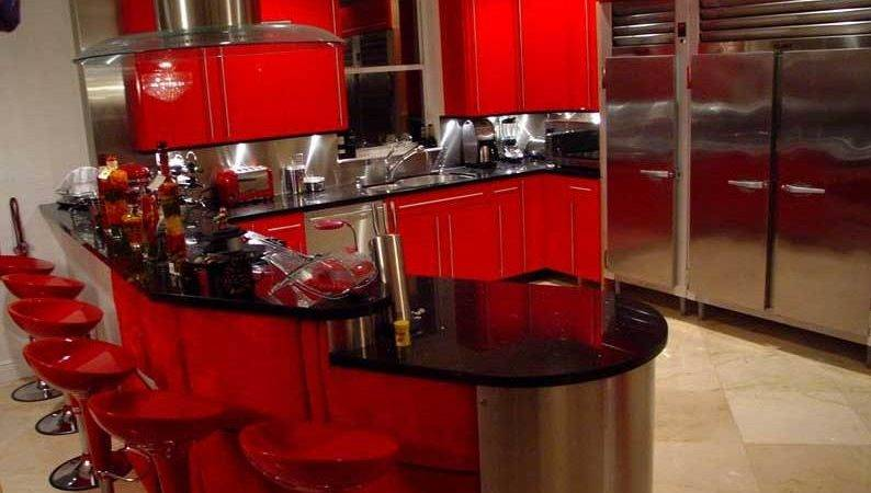 Red Black Kitchen Decor