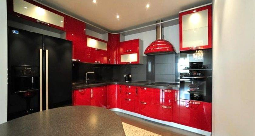 Red Black Kitchen Designs