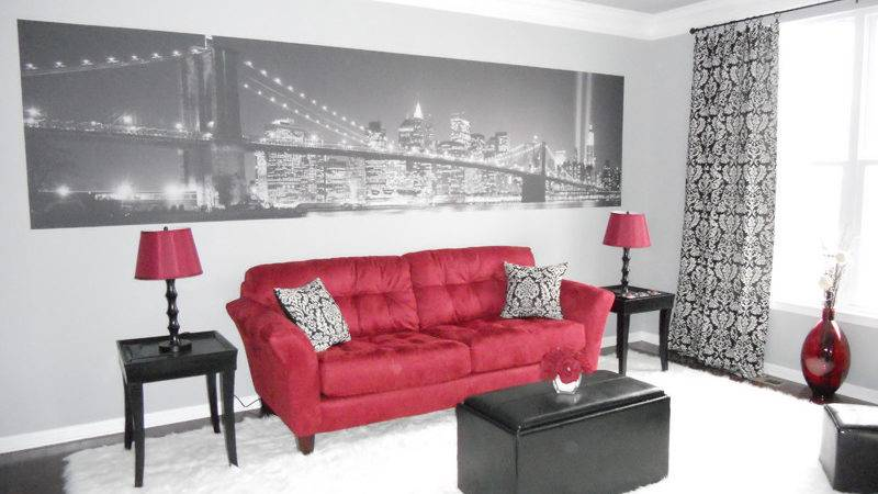 Red Black Living Room Decor Marceladick