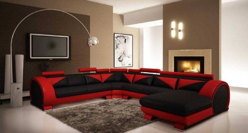 Red Black Living Room Ideas Silver Brown White Decor