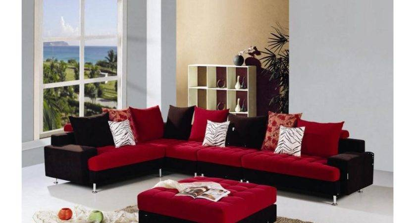 Red Black Sofa Sale Couch Ideas Interior