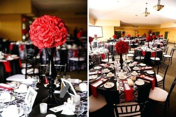 Red Black Table Decor Euffslemani