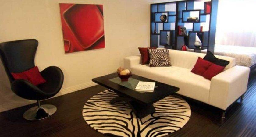 Red Black White Living Room Ideas Sofa